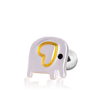 316L Surgical Steel Cute Elephant Cartilage Earring