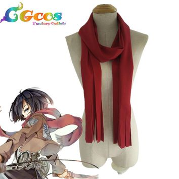 Cool Attack on Titan   Cosplay Costume  no  Mikasa Ackerman Scarf  New in Stock Retail / Halloween AT_90_11