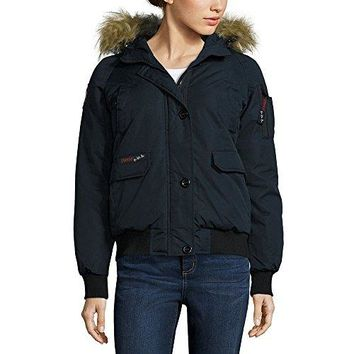 Canada Weather Gear Womens Bomber Jacket, Medium, Black  canada goose women bomber