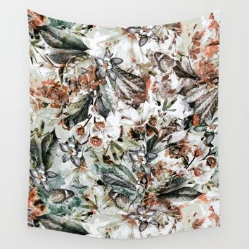 Orchidaceae Wall Tapestry by VS Fashion Studio