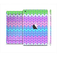 The Bright-Colored Knit Pattern Full Body Skin Set for the Apple iPad Mini 2