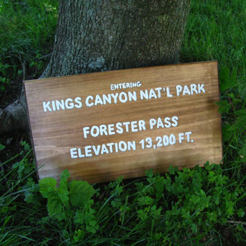 Forester Pass Trail Sign, Kings Canyon National Park