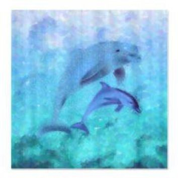 Painted Dolphins Shower Curtain> Shower Curtains> We Tees You
