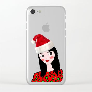 Christmas with you | Kids Painting | Only Love by Elisavet Clear iPhone Case by Azima
