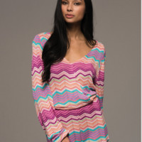 CAPRI LONG SLEEVE KNIT ROMPER - PINK + MULTI