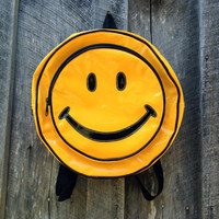 Vintage Rave smiley face backpack