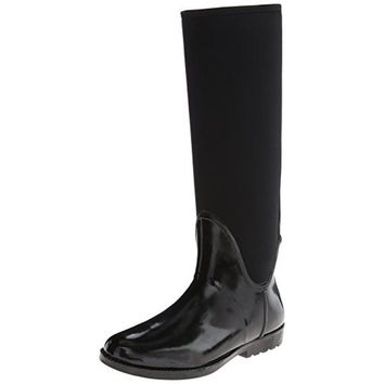 Nine West Womens Second Wind Rubber Knee-High Rain Boots