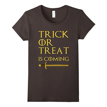 Trick or Treat is Coming Cute and Funny Halloween Tshirt