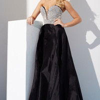 Jovani 33175 Crystal Jeweled Top Taffeta Pageant Prom Dress Evening Gown