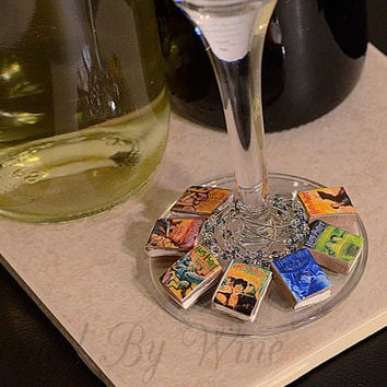 7 Harry Potter Wine Charms: Birthday Gift, Fun With Books, Clay Charms