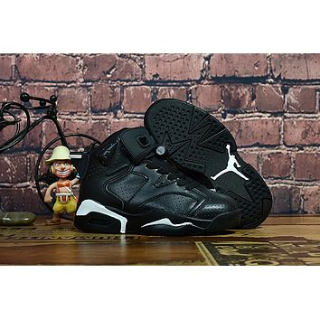 Kids Air Jordan 6 Black Cat Sneaker Shoe Size US 11C-3Y