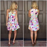 Paradise Lily Floral Babydoll Dress
