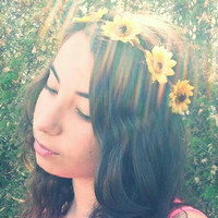 Sunflower Flower Headband, Flower Crown, Flower Halo, EDC, Coachella, Ezoo, Rave, Festival