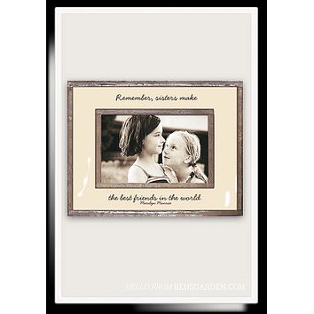 Remember, Sisters Make The Best Friends Copper & Glass Photo Frame