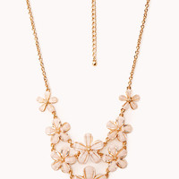 FOREVER 21 Enchanted Floral Necklace Peach/Gold One