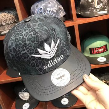 """""""Adidas"""" Unisex Personality Leopard Letter Embroidery Flat Cap Baseball Cap Couple Casual Sun Hat"""