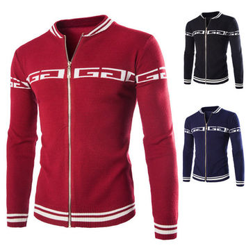 New Design Men's Fashion Zip Sweater