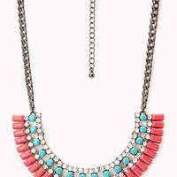 Neon Pop Fringed Bib