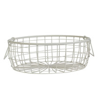Low Wire Basket White - Down To The Woods