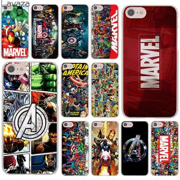 Lavaza Marvel Superheroes The Avengers Hard Cover Case for Apple iPhone 8 7 6 6S Plus 5 5S SE 5C 4 4S X 10 Coque Shell