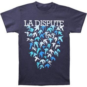La Dispute Men's  Leaves T-shirt Blue Rockabilia