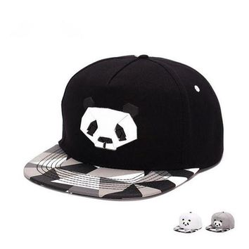 CREYCI7 fashionspring and summer  lovers baseball cap hip-hop hat male Ms. cute panda zebra rubber   hatsnapback Flat-brimmed hat