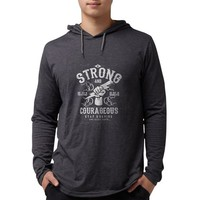Be Strong and Courageous (dark Mens Hooded Shirt