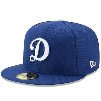 "Los Angeles Dodgers LA ""D"" New Era 59FIFTY Diamond Era MLB Cap Hat Fitted 5950"
