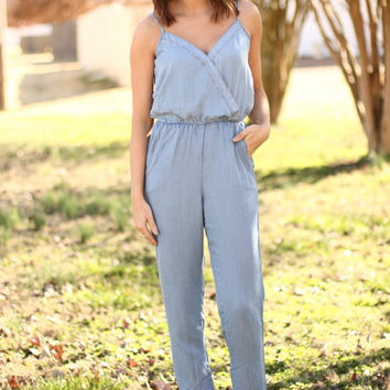 Speaking Volumes Denim Jumpsuit