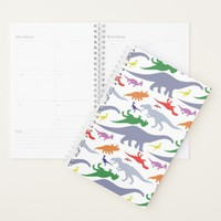 Colorful Dinosaur Pattern (Light) Planner