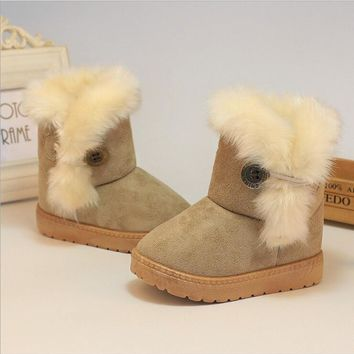 winter faux fur toddler boots
