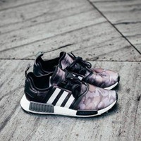 PEAPNU Adidas' Women Men Trending NMD Running Sports Shoes Camouflage purple