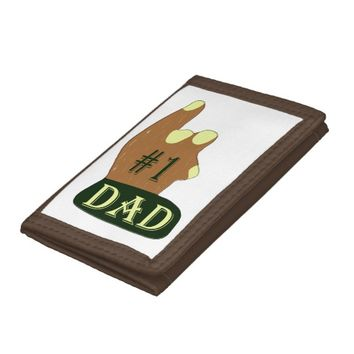 Green Yellow #1 Dad Trifold Wallet