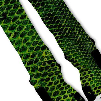 green snake skin kobe lebron 11 fast shipping nike elite socks customized lebron 11 scales  number 1