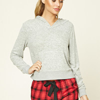 Plaid Lace-Trimmed PJ Shorts