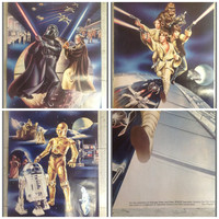 Complete Original 1978 Star Wars 3 Promo Poster Set - from Procter Gamble