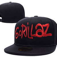 HAIHONG Gorillaz Band Logo Adjustable Snapback Embroidery Hats Caps