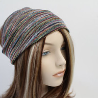Colorful Striped Turban Wrap Headband Women's Wide Head Wrap Multicolor Turband Hair Accessories