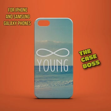 FOREVER YOUNG Design Custom Phone Case for iPhone 6 6 Plus iPhone 5 5s 5c iphone 4 4s Samsung Galaxy S3 S4 S5 Note3 Note4 Fast!