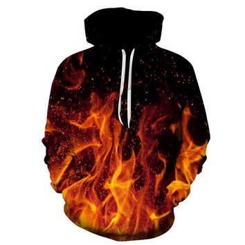 Fire Flame Ignited Fiery All Over Print Hoodie Sweater