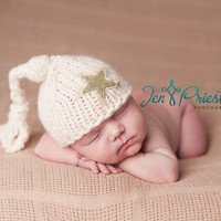 Baby Star hat..Newborn beannie..photography prop... photo prop 20 color options...Sale 20% off with code FALL1