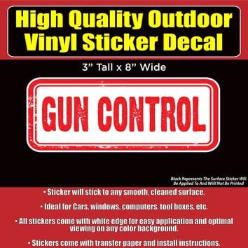 Gun Control Vinyl Car Window Laptop Bumper Sticker Decal