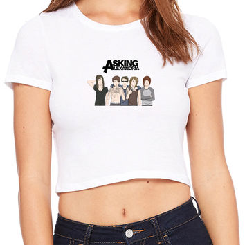 Asking Alexandria Band Crop T-shirt