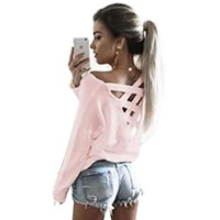 Fashion Women Blouses Shirt Long Sleeve Back Hollow Loose Sexy Shirt Plus Size Tops Womens Clothing LJ7457M