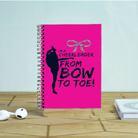 Bow To Toe Cheer Photo Notebook Auroid