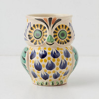 Handpainted Folk Owl Mug