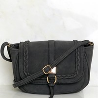 Braided Cross Body Bag Black