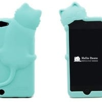 [PcM]Baby Blue Lovely Kiki Cat Silicone Case Cover for Apple iPod Touch 5th Generation 5G 5 with Earphone Anti Dust - Retail Packing:Amazon:Electronics