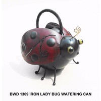 D Art Collection Iron Ladybug Watering Can