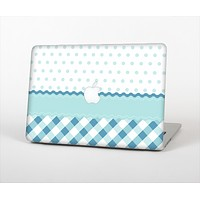 """The Subtle Blue & White Plaid with Polka Dots Skin Set for the Apple MacBook Air 13"""""""